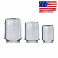 "Transparent Waterproof PVC Travel Luggage Protector Suitcase Cover 18""-30"""