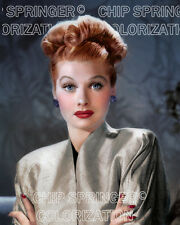 LUCILLE BALL WEARING STUNNING GOLD COAT BEAUTIFUL COLOR PHOTO BY CHIP SPRINGER