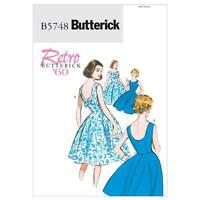 BUTTERICK SEWING PATTERN MISSES' RETRO VINTAGE 1960s DRESS SIZES 6 - 22 B5748