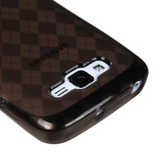 For Samsung Focus 2 i667 TPU Candy Flexi Gel Crystal Case Smoke Plaid Accessory