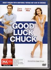 GOOD LUCK CHUCK - DVD R4 (2008) Dane Cook Jessica Alba - LIKE NEW -  FREE POST