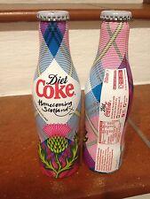 Bottiglia Alluminio Diet Coca Cola HomeComing Scozia 250ml anno 2014 RARISSIMA!