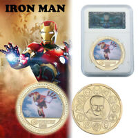 WR Marvel The Avengers Iron Man Gold Commemorative Coin For Collection In Slab