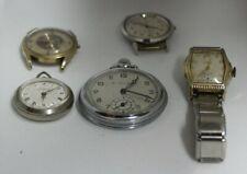 Lot of 5 Antique Mens Elgin, Bulova, Tissot, Endura  Watches  To Fix