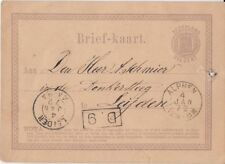 Netherlands 2½¢ Briefkaart: Jan. 1872, Alphen (Cds) to Leiden (2-Ring) - ph95