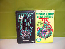 Lot of 2 VHS Movie Tapes Teenage Mutant Ninja Turtles 1 and 3