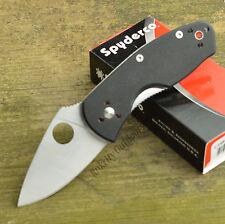 Spyderco Ambitious Black G-10 Plain Edge Knife C148GP