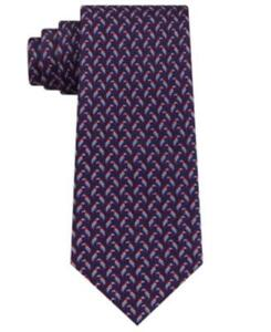 MSRP $70 Tommy Hilfiger Men's Small Parrot Silk Tie Blue One Size