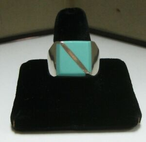 Sterling Silver (.925) Men's  Ring with Turquoise Stone