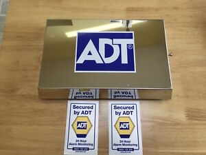 ADT stainless Steel Dummy Alarm Box House Garage Window Stickers (FREE POSTAGE)