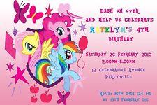 Printable Invite Personalised My Little Pony Invitation JPEG You Print Girls
