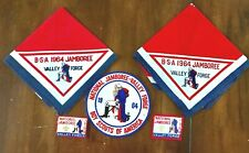 Lot of 5 1964 BSA National Jamboree Valley Forge Neckerchiefs & Patches