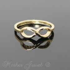 YELLOW GOLD TONE LADIES GIRLS FOREVER INFINITY ETERNITY DRESS RING SIZE 5.5 SML