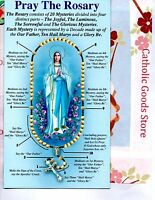 Pray the Rosary Pamphlet Includes All 4 Mysteries