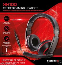 Gioteck XH100 Wired Stereo Headset (PS4/Xbox One/PC DVD) - Red/Black