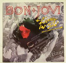 """Bon Jovi Living In Sin Single 7"""" UK 1989"""