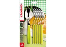 ️ Kaimano Kdn760206e Dinamik cucchiaini acciaio inossidabile Verde 6 Unità