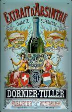 Dornier Tuller absinthe Tôle Bouclier Bouclier 3d Marquée TIN SIGN 20 X 30 cm
