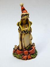 Harmony Kingdom Artst Neil Eyre Eyredesigns Santa Hat Tree Frog Candle Gold Leaf