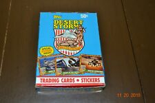 2 Boxes -  Topps Desert Storm 1991 Unopened Box, 36 Wax Packs with stickers