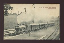 Herts Hertfordshire OAKLEIGH PARK GNR Royal Train passing station pre 1919 PPC