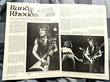 Ozzy Osbourne / Randy Rhoads / 2 Page Magazine Article / Interview Complete (1)