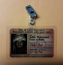 Indiana Jones ID Badge-Excavator's License Salah Mohammed Faisel el-Kahir