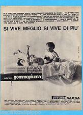 QUATTROR963-PUBBLICITA'/ADVERTISING-1963- PIRELLI  SAPSA - MATERASSO GOMMAPIUMA