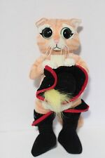 "Shrek 11"" Puss in Boots Adorable Big Eyes Plush Toy Doll 2008 Universal Studios"