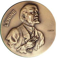 RUSSIAN REVOLUTIONARY / V. LENINE / BRONZE MEDAL BY AURELIANO M18b