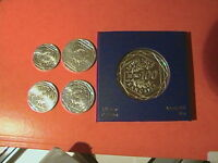 BELLE  COLLECTION DE 5 PIECES NEUVES  LA SEMEUSE  ARGENT 5/10/15/25ET 100 EUROS