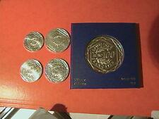 SERIE 5 PIECES NEUVES  LA SEMEUSE  ARGENT 5/10/15/25ET 100 EUROS