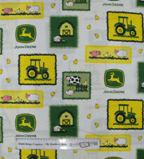 Quilting Patchwork Cotton Sewing Fabric JOHN DEERE FARM KIDS 50x55cm FQ NEW M...