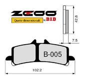 45B00500 PASTIGLIE FRENO ZCOO (B005 EX) HUSQVARNA NUDA 900 R 2012- (ANTERIORE)