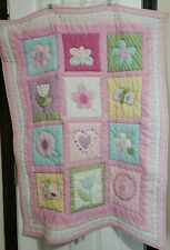 Circo Baby Quilt Comforter Bed Nursery Crib Blanket Throw Pink Patchwork Floral