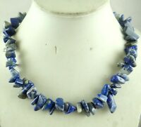 Natural lapis lazuli Chip Shape beads Handmade Gemstone Jewellery Necklace R118