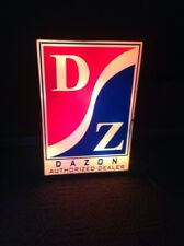 GO KART Authorized Dealer Sign DAZON D Z Lighted Vintage Sign 2 Feet By 3 Feet