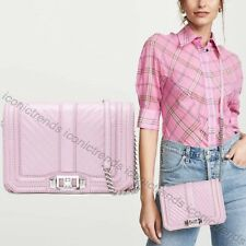 NWT🌸 Rebecca Minkoff Chevron Quilted Leather Small Love Crossbody Light Orchid