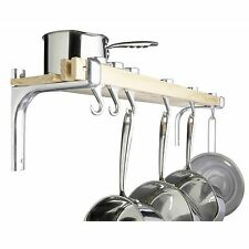 Master Class kitchenCraft Shelf Style Wooden Pot Rack