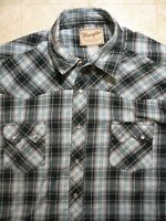 WRANGLER WESTERN WEAR PEARL SNAP SHORT SLEEVE BUTTON-UP SHIRT 2X-LARGE