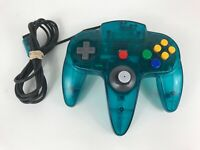 N64 Ice Blue Controller Nintendo 64 Authentic OEM *Needs New Stick* TESTED WORKS