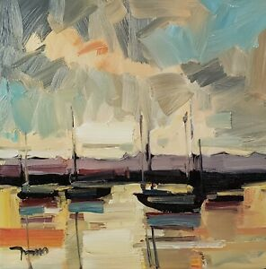 JOSE TRUJILLO Oil Painting IMPRESSIONISM SEASCAPE NAUTICAL CONTEMPORARY ARTIST