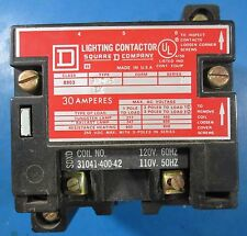 Square D 30 Amp 3 Phase Pole Relay Contactor 120 Volt Coil SMO2