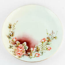 Set of 4 France Limoges Bm de M Hand Painted and Signed Dessert Plates