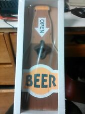 NEW  WOODEN & CAST IRON BOTTLE OPENER-REALLY COOL!!!
