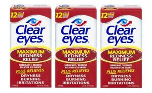 Clear Eyes Maximum Redness Relief Eye Drops 3 Pack