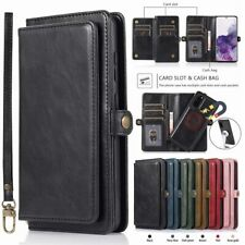 For Samsung Note 20 S20 Ultra S10 Plus Removable Wallet Case Magnetic Flip Cover