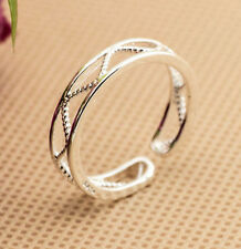 925 Solid Sterling Silver Plated Women/Men Fashion Ring Gift SIZE OPEN H23