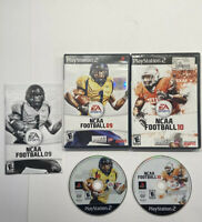 Playstation 2 NCAA Football 09 & NCAA Football 10  ESPN PS2