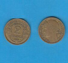 gertbrolen 2 Francs Type Morlon Cupro-Aluminium 1935  Année rare Exemplaire N°7